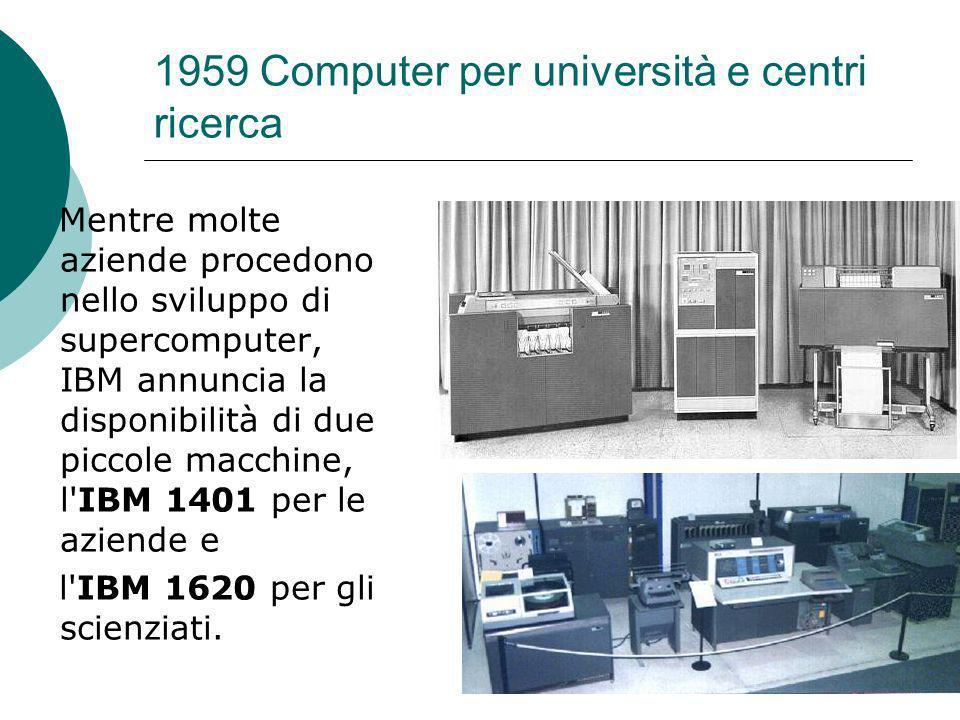 1959 Computer per università e centri ricerca