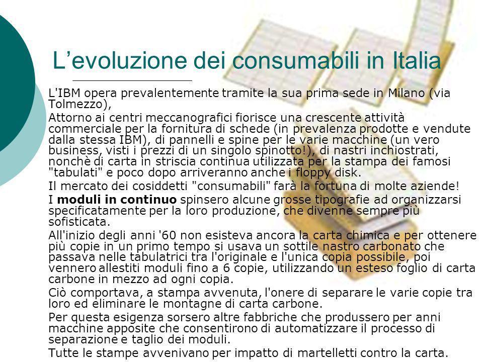 L'evoluzione dei consumabili in Italia
