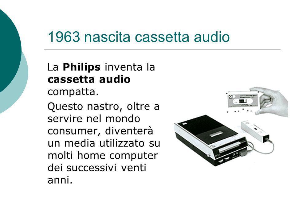 1963 nascita cassetta audio