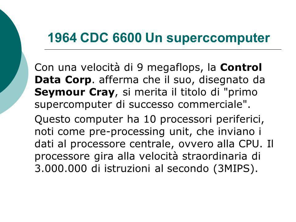 1964 CDC 6600 Un superccomputer