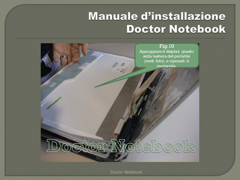 Manuale d'installazione Doctor Notebook