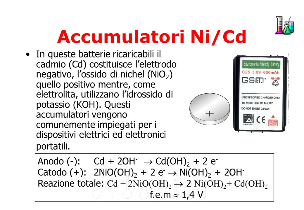 Accumulatori Ni/Cd