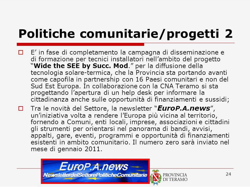Politiche comunitarie/progetti 2