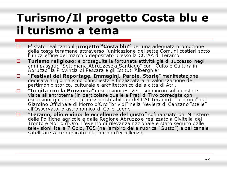 Turismo/Il progetto Costa blu e il turismo a tema
