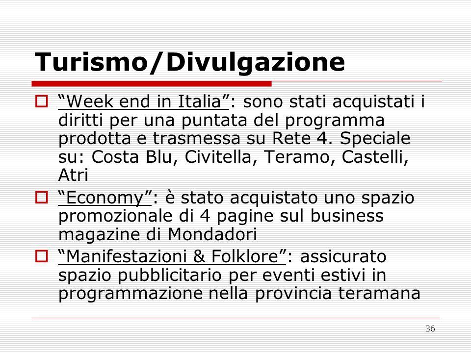 Turismo/Divulgazione