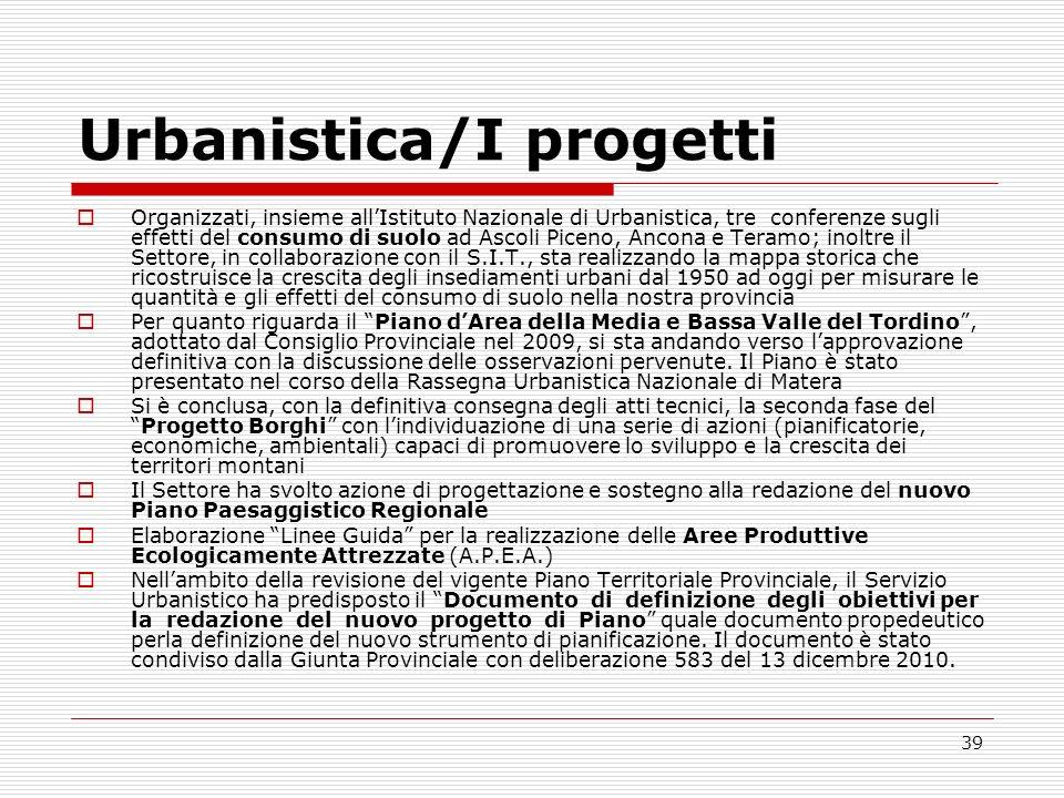 Urbanistica/I progetti