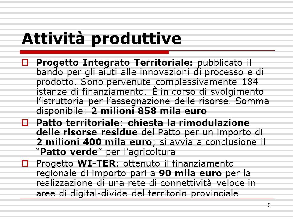 Attività produttive