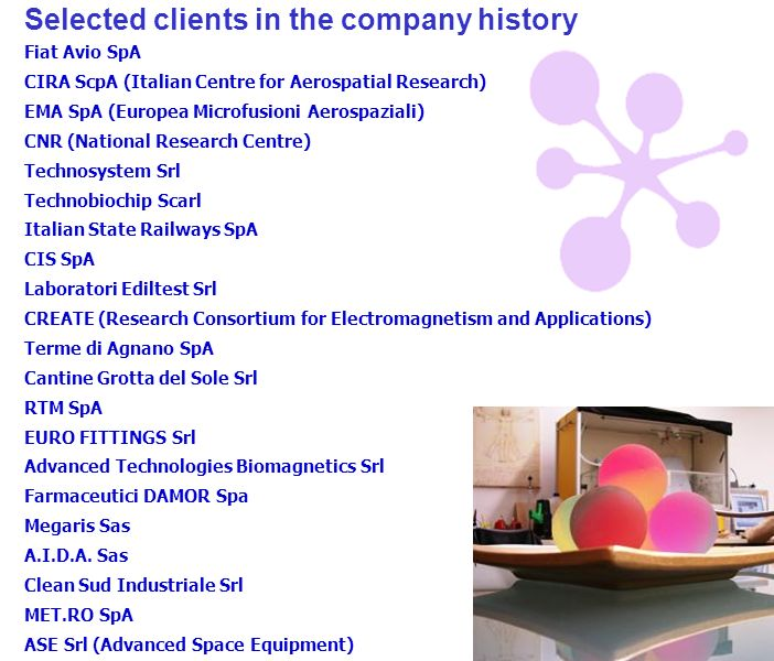 Selected clients in the company history