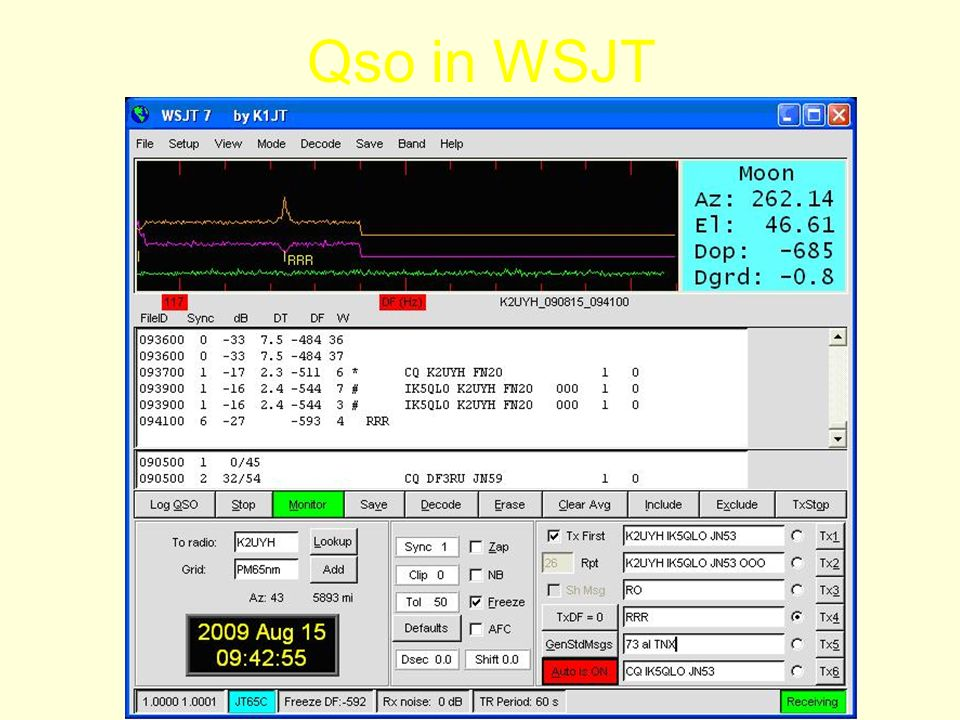 Qso in WSJT
