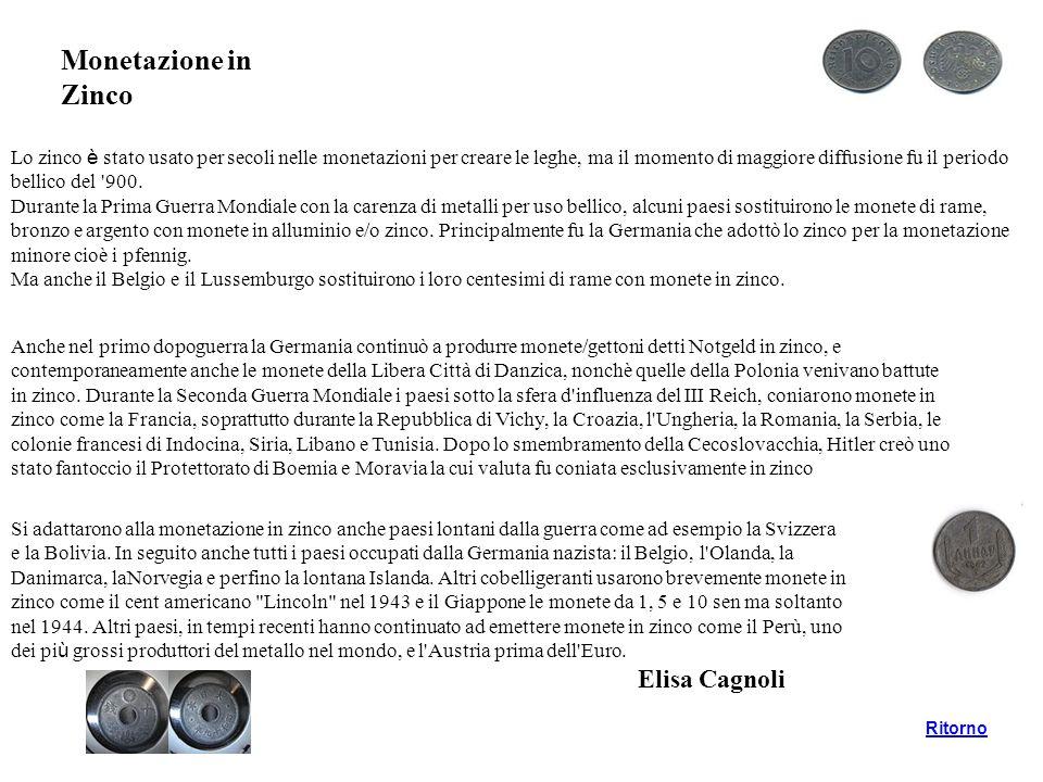 Monetazione in Zinco Elisa Cagnoli