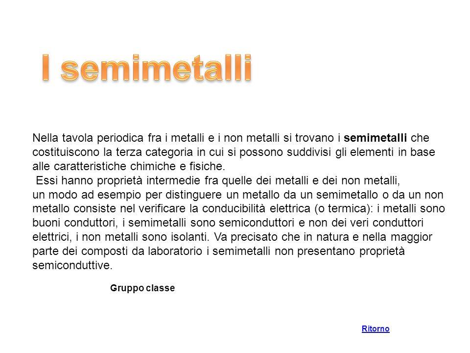 I semimetalli