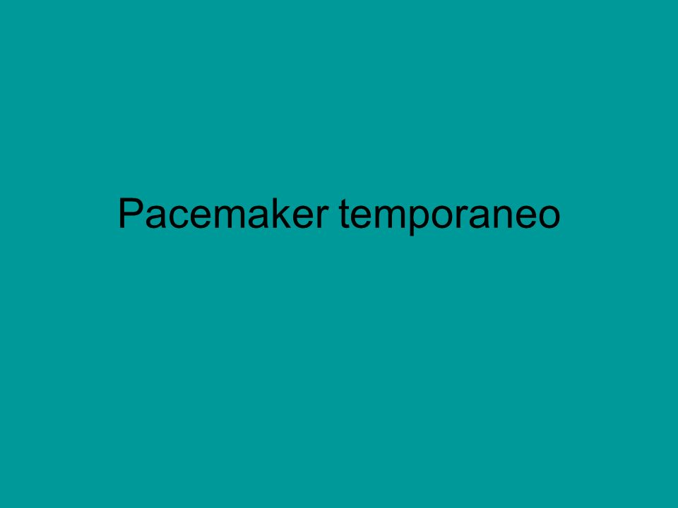 Pacemaker temporaneo