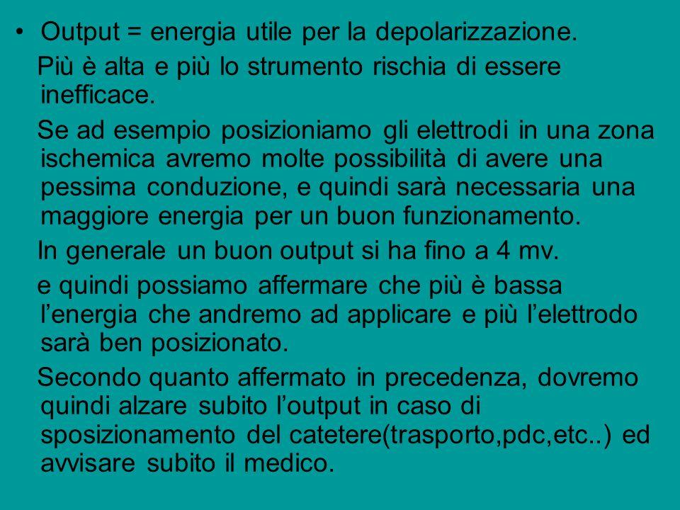 Output = energia utile per la depolarizzazione.