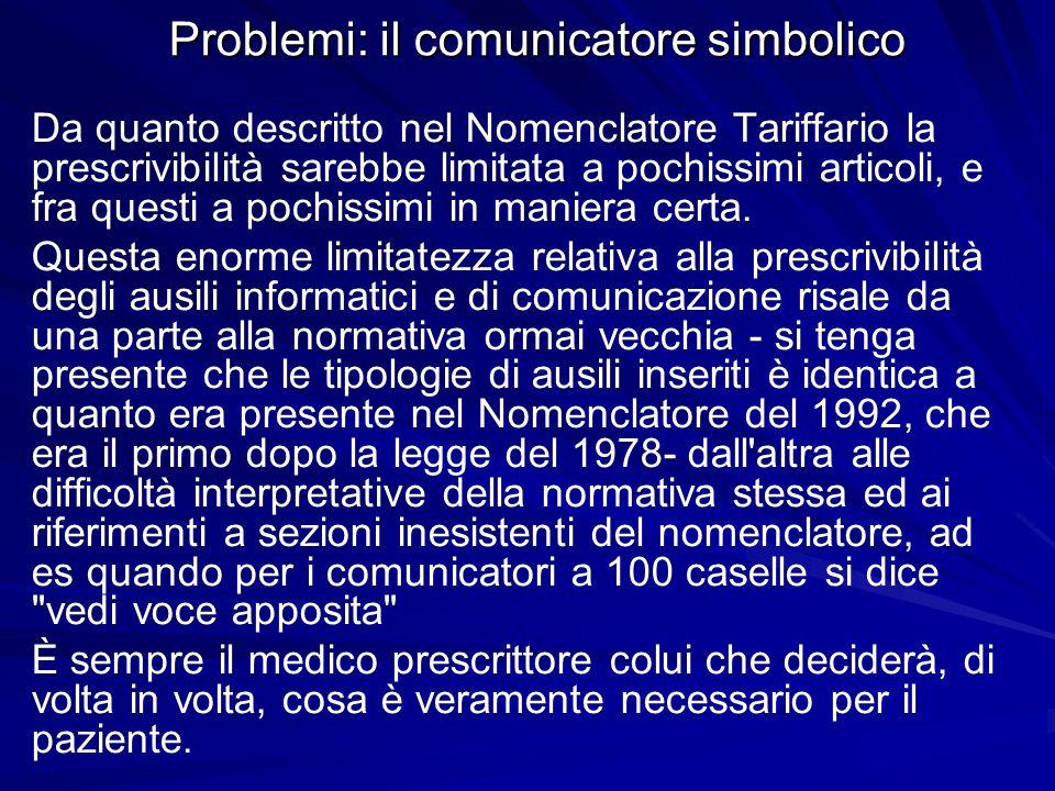 Problemi: il comunicatore simbolico