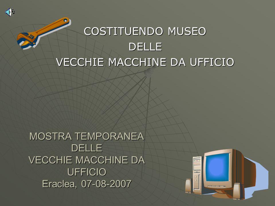 COSTITUENDO MUSEO DELLE VECCHIE MACCHINE DA UFFICIO
