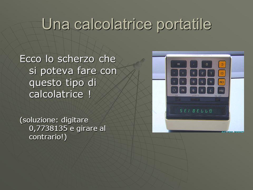 Una calcolatrice portatile