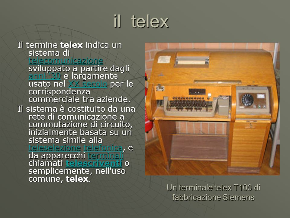 Un terminale telex T100 di fabbricazione Siemens