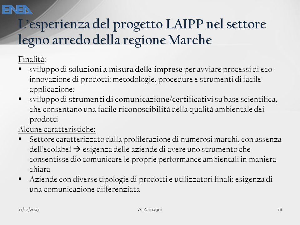 L'esperienza del progetto LAIPP nel settore legno arredo della regione Marche