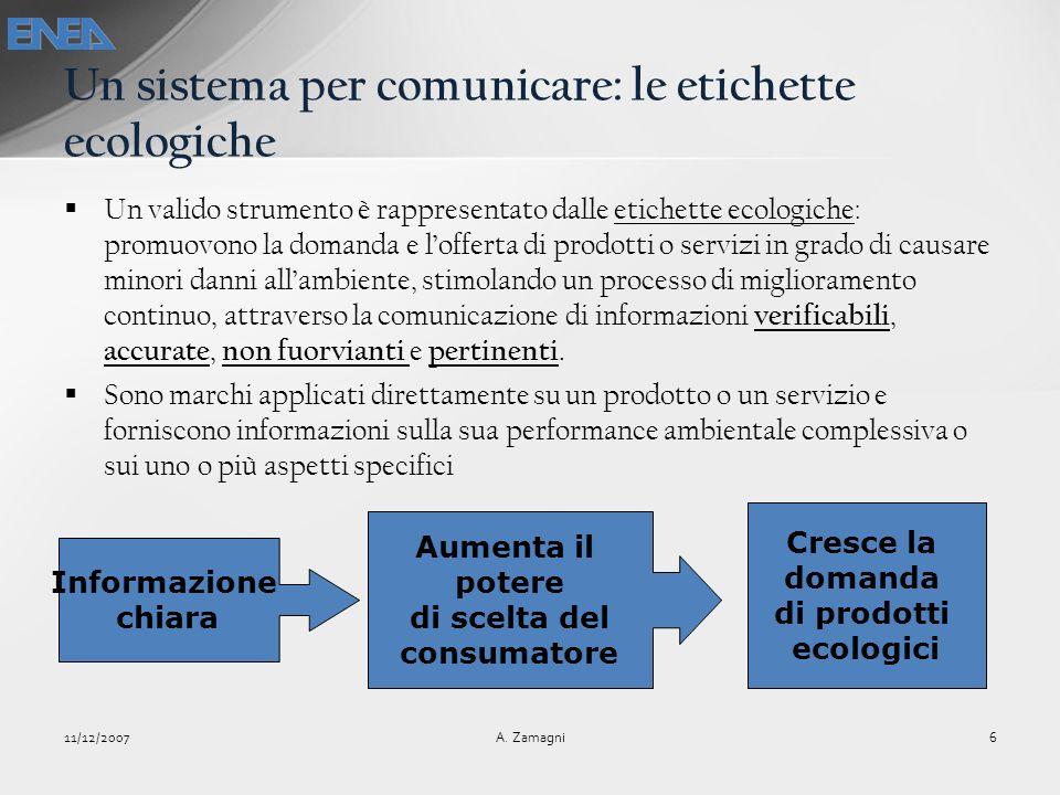 Un sistema per comunicare: le etichette ecologiche