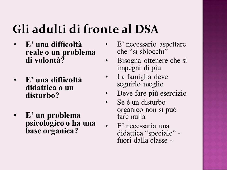 Gli adulti di fronte al DSA