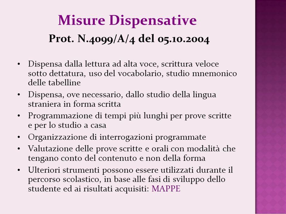 Misure Dispensative Prot. N.4099/A/4 del 05.10.2004