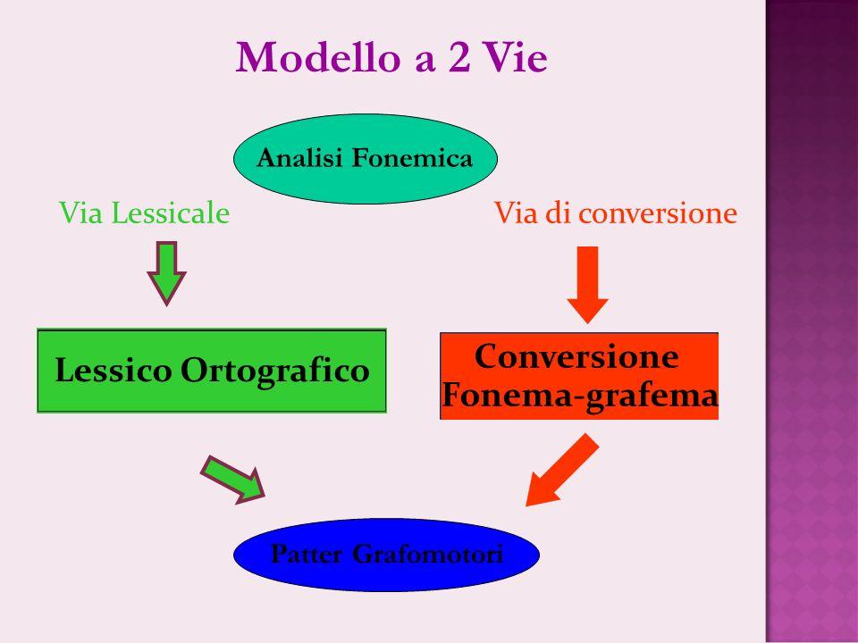 Modello a 2 Vie Conversione Lessico Ortografico Fonema-grafema