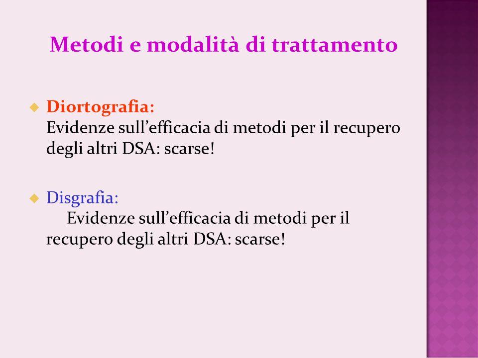 Metodi e modalità di trattamento