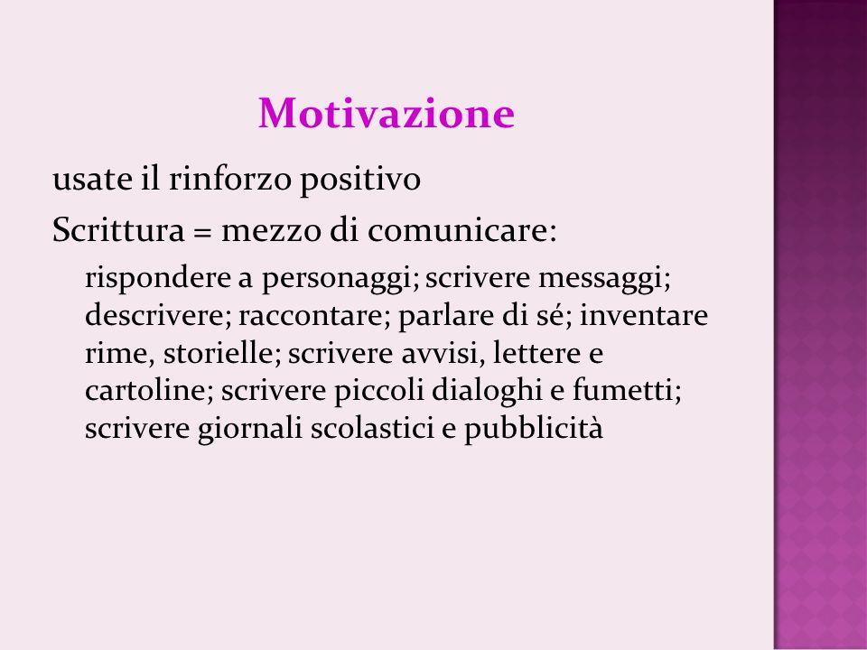 Motivazione usate il rinforzo positivo
