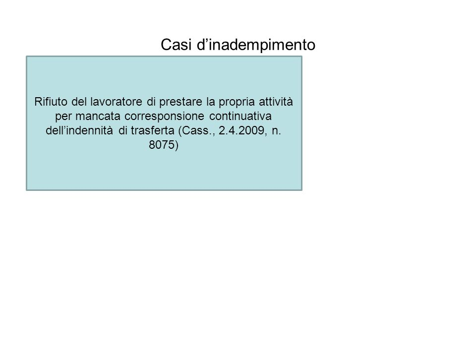 Casi d'inadempimento