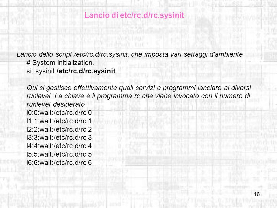 Lancio di etc/rc.d/rc.sysinit