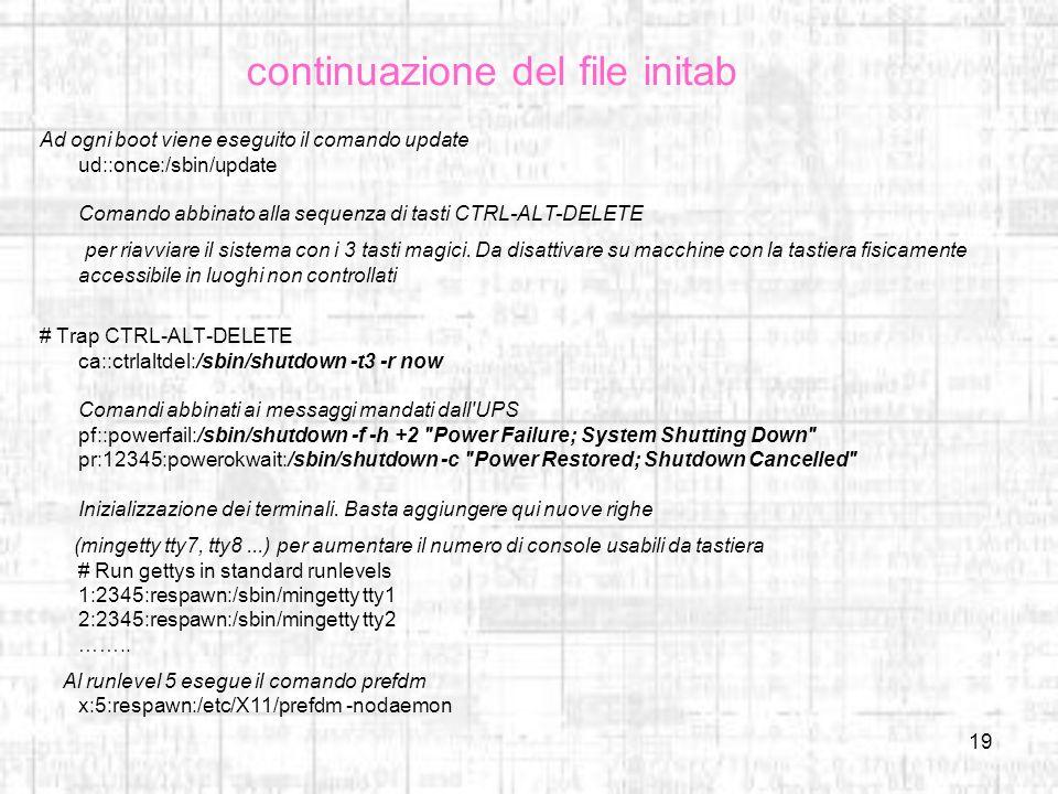 continuazione del file initab