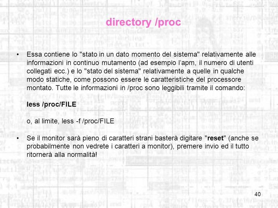 directory /proc