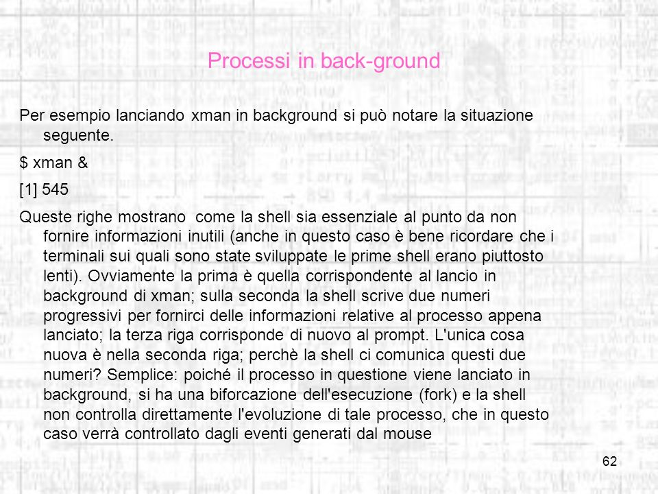 Processi in back-ground