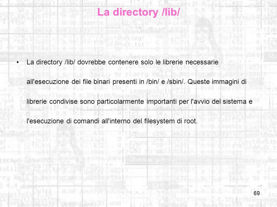 La directory /lib/