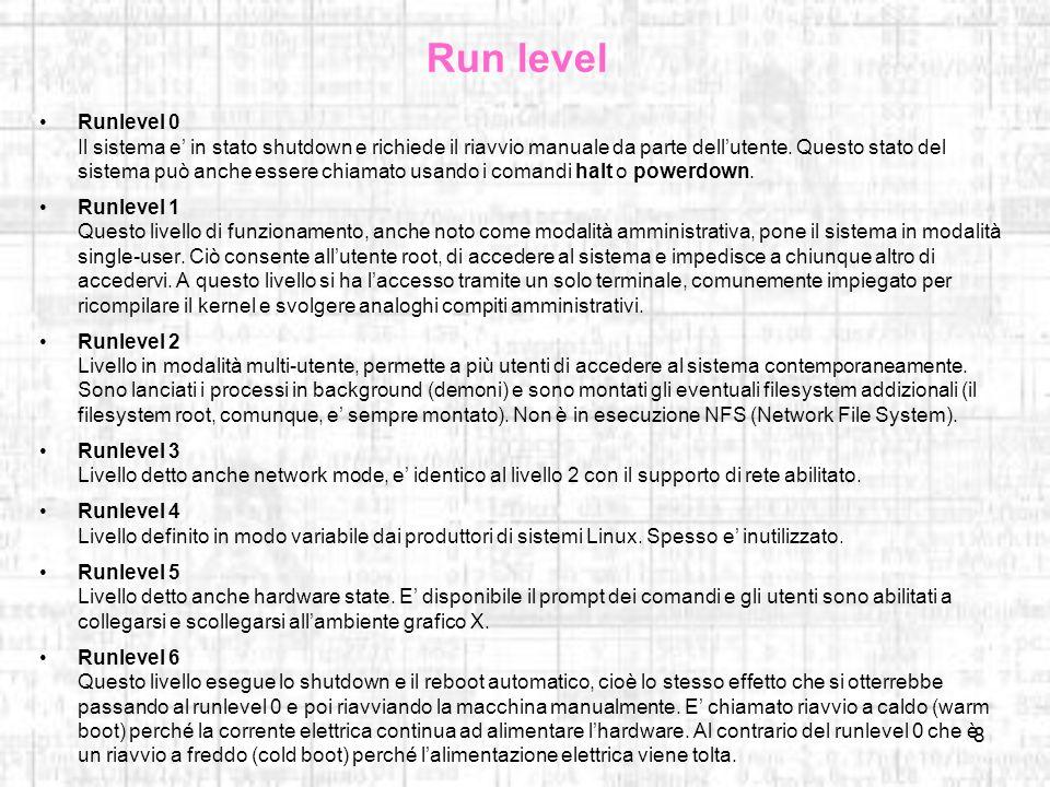 Run level