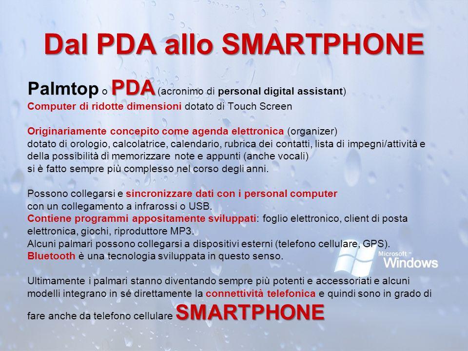 Dal PDA allo SMARTPHONE