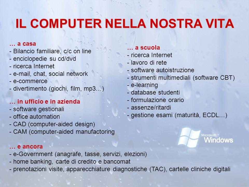 IL COMPUTER NELLA NOSTRA VITA