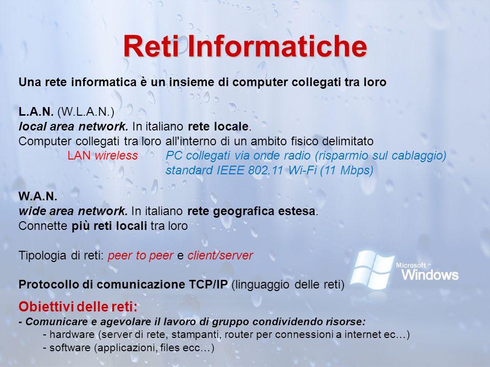 Reti Informatiche Obiettivi delle reti: