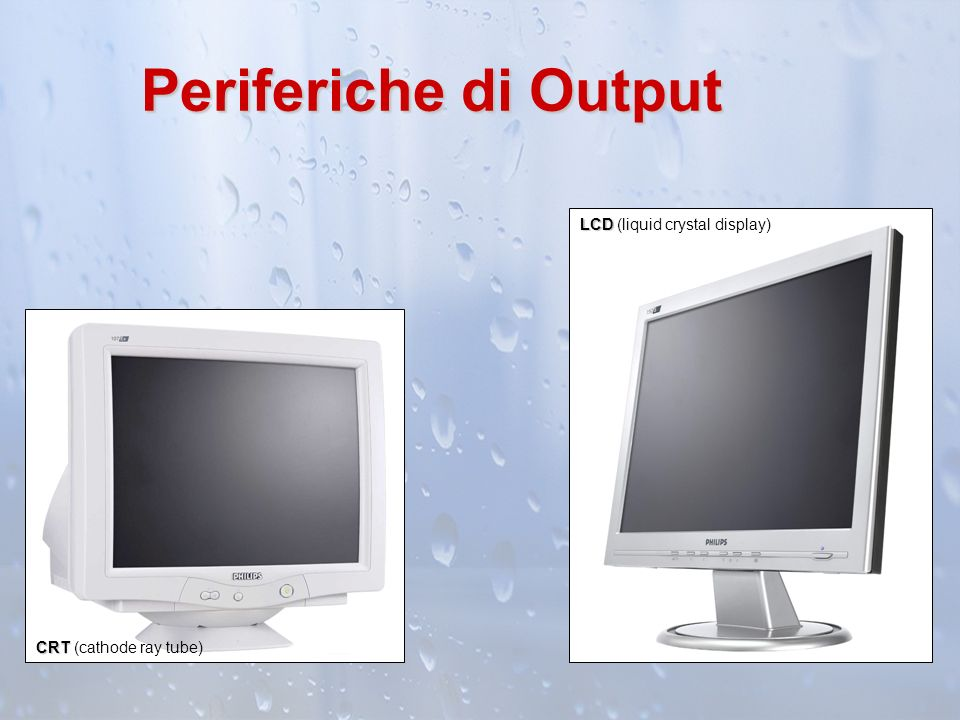 Periferiche di Output LCD (liquid crystal display)