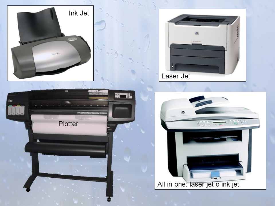 Ink Jet Laser Jet Plotter All in one: laser jet o ink jet