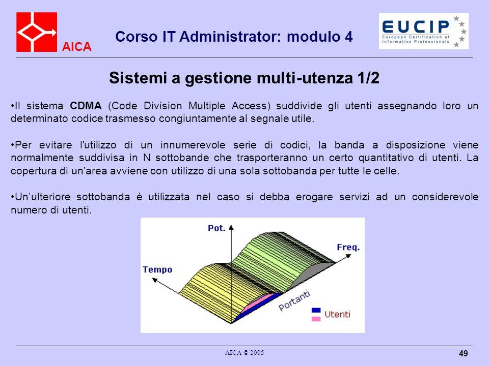 Sistemi a gestione multi-utenza 1/2