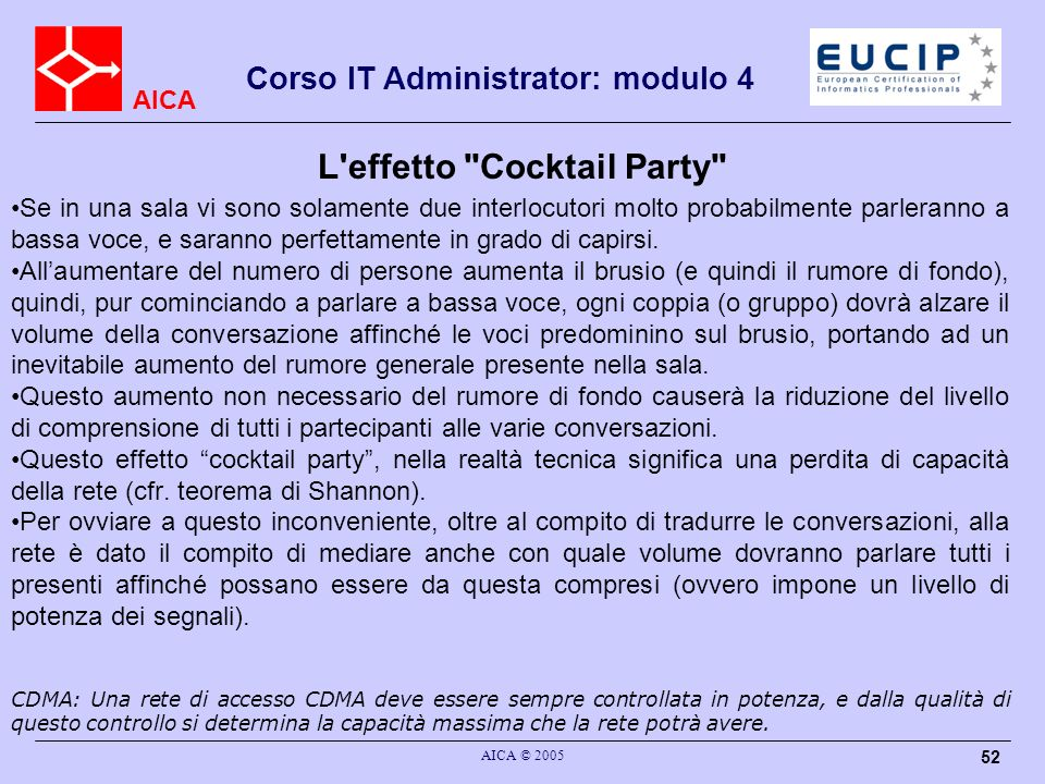 L effetto Cocktail Party