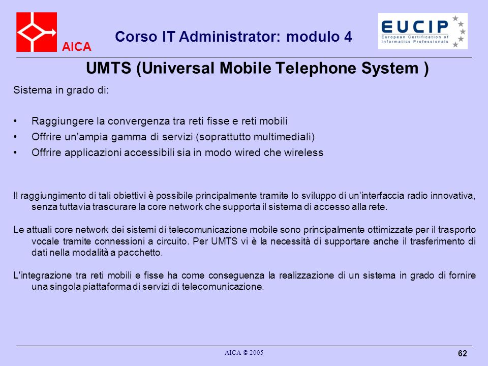 UMTS (Universal Mobile Telephone System )