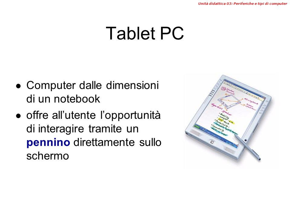 Tablet PC Computer dalle dimensioni di un notebook