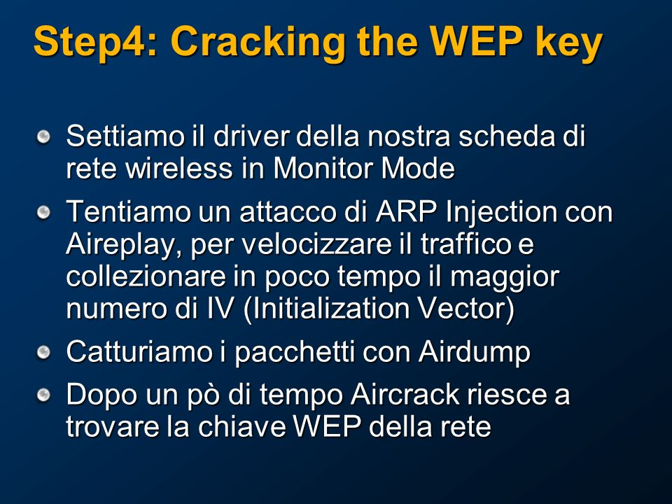 Step4: Cracking the WEP key