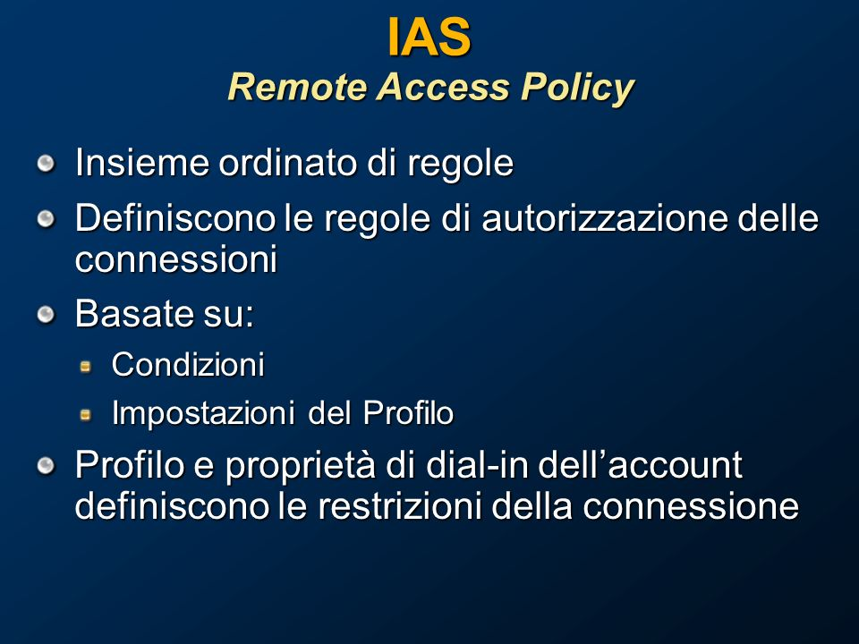 IAS Remote Access Policy