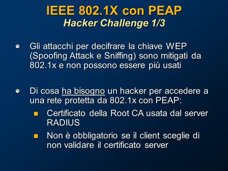 IEEE 802.1X con PEAP Hacker Challenge 1/3