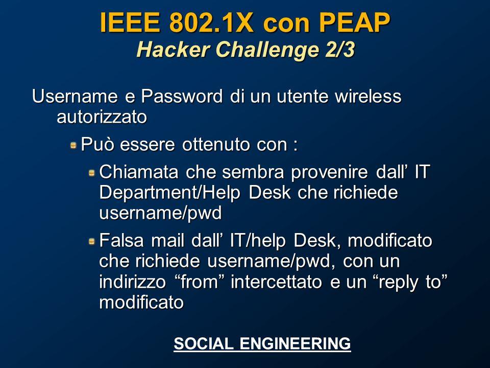 IEEE 802.1X con PEAP Hacker Challenge 2/3