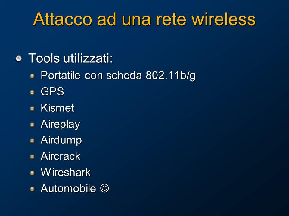 Attacco ad una rete wireless