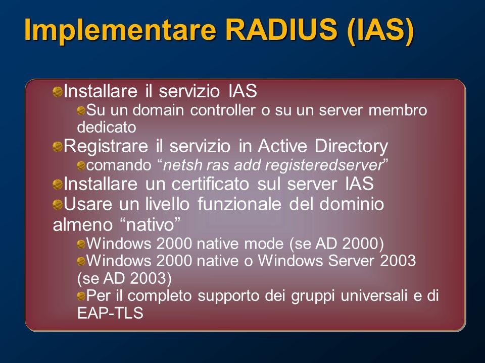 Implementare RADIUS (IAS)